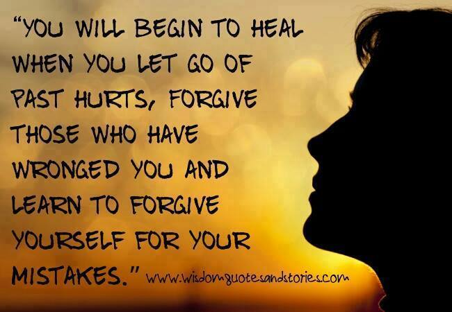 You will begin to heal