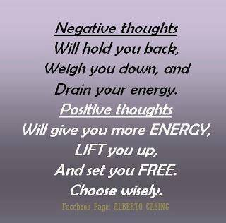 Negative Thoughts, Positive Thoughts